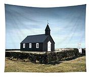 Black Church Of Budir, Iceland Tapestry