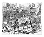 California Gold Rush, 1860 Tapestry