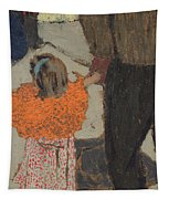 Child Wearing A Red Scarf Tapestry