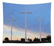 3 Cross Sunset Tapestry