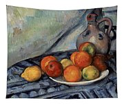 Fruit And A Jug On A Table Tapestry