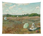 Gathering Autumn Flowers Tapestry