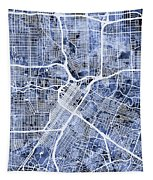Houston Texas City Street Map Tapestry