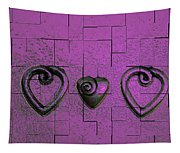 3 Of Hearts Tapestry