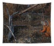Orange Iguana Tapestry