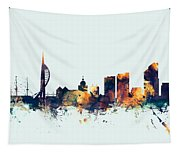 Portsmouth England Skyline Tapestry