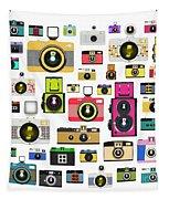 Retro Camera Tapestry