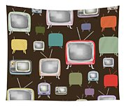 retro TV pattern  Tapestry