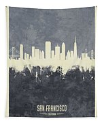 San Francisco California Skyline Tapestry