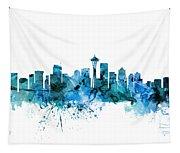 Seattle Washington Skyline Tapestry
