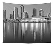 Tampa Bay Black And White Tapestry