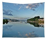 The Bass River At Dawn, Beverly Ma Tapestry