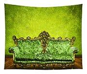 Victorian Sofa In Retro Room Tapestry
