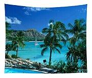 Waikiki And Diamond Head Tapestry