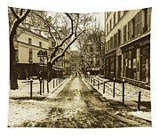 Winter In Paris Tapestry