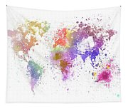 World Map Painting Tapestry