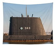 343 Uss Clamagore Diesel Tapestry