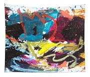 Abstract Expressionsim Art Tapestry