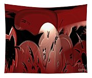 3d Red Abstract Tapestry