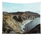 Bixby Creek Bridge Big Sur Photo By Pat Hathaway Tapestry