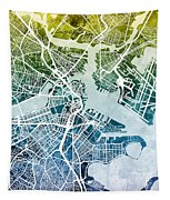 Boston Massachusetts Street Map Tapestry