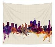 Brisbane Australia Skyline Tapestry