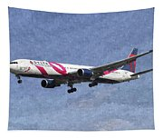 Delta Airlines Boeing 767 Art Tapestry