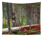 Hunter In The Adirondacks Tapestry