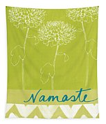 Namaste Tapestry by Linda Woods
