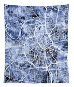 Nashville Tennessee City Map Tapestry