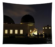 Night At Griffeth Observatory Tapestry