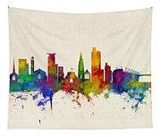Southampton England Skyline Tapestry