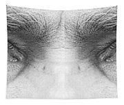 Stormy Angry Eyes Tapestry