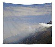 Stromboli Volcano On The Island Of Stromboli Tapestry