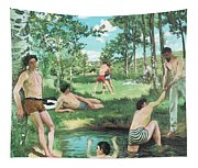 Summer Scene  Tapestry