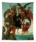 The Torment Of Saint Anthony Tapestry