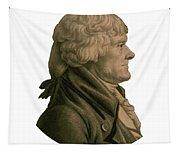 Thomas Jefferson Profile Tapestry