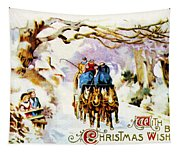 American Christmas Card Tapestry