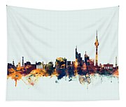 Berlin Germany Skyline Tapestry