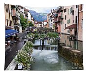 Canals Of Annecy Tapestry