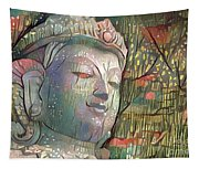 Colorful Indian Diety Figure Tapestry
