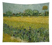Field With Flowers Near Arles Tapestry