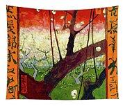 Flowering Plum Tree Tapestry