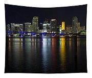 Miami Downtown Skyline Tapestry
