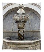 Public Fountain In Dubrovnik Croatia Tapestry