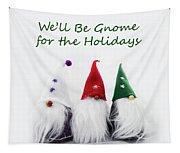 Three Holiday Gnomes 2a Tapestry