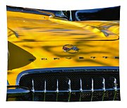 Yellow Corvette Tapestry