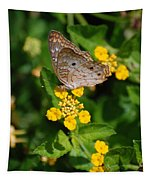 5 Yellow Flowers And A Buttefly Tapestry