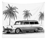 56 Chevy Wagon Tapestry