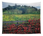 5b6301 Vineyards Of Color Tapestry